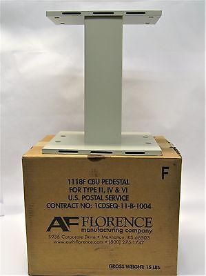 IV VI 1118F CBU Sandstone Pebble  W-4 AF Florence Mail Box Pedestal Type III