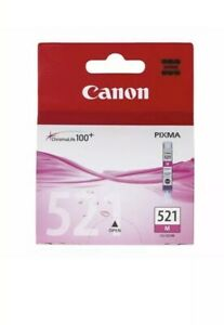 1x-Genuine-Canon-CLI-521-Magenta-Ink-Cartridge-For-MP620-MP630-MP990-MX870