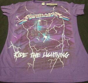 Nwt-Sm-Purple-Metallica-Ride-The-Lightning-Electric-Chair-Metal-Band-Tee-Shirt