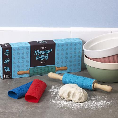 Moins de la moitié prix Luckies message en bois Rolling Pin Baker Boîte Cadeau