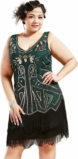 BABEYOND Womens Flapper Dresses 1920s Beaded Fringed Great Gatsby Dress
