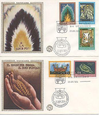 """Europa Briefmarken Vatikan 1974 Fdc Filagrano Wettbewerb Künstlerisch Auf """"die Bibel"""""""
