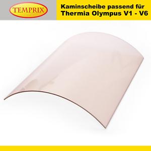 Temprix Kaminglas OfenglasThermia Olympus V1 V2 V3 V4 V5 V6Kaminscheibe