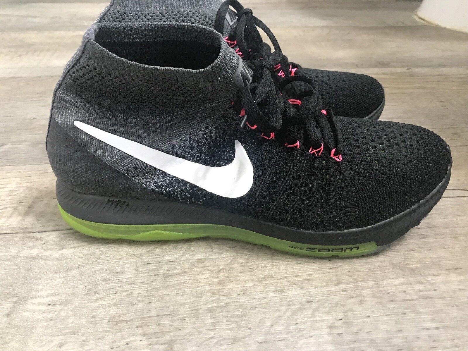Nike donne ingrandimento tutti flyknit lupo grigio bianco / nero / giallo dimensioni