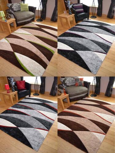 Modern Design Rug Runner Carpet Mat Wave Thick Soft Carved Large Medium Hallway