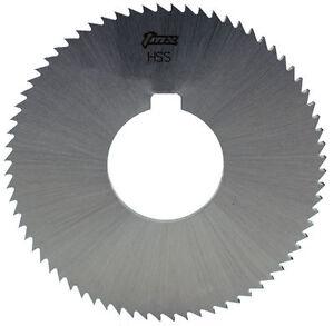 ".102/"" Thick x 2-3//4/"" Diameter x 1/"" Arbor Hole 72 Teeth HSS Screw Slotting Saw"