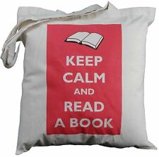 KEEP CALM AND READ A BOOK - NATURAL COTTON SHOULDER BAG - Tote, shopper,shopping