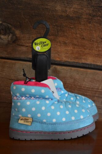 Western Chief girl/'s house shoes slippers booties 2437506H Freestyle Dot