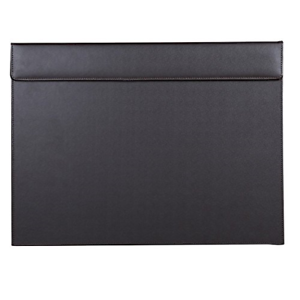 KINGFOM™ 18/'/'x14/'/' Large Rectangle PU Leather A3 Desk Mat with Paper Clip Brown