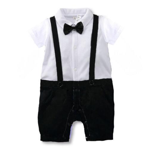 Bébé Garçons Smart costume tenue combinaison Occasion Spéciale Fête 0-2 ans 100/% coton