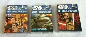 Star Wars Classic Trilogy Playing Cards Set of 3 Decks by Cartamundi