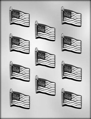 American Flag USA Chocolate Candy Mold from CK  #14403 NEW