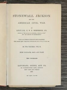 Antique-Book-1904-Stonewall-Jackson-American-Civil-War-7