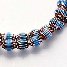 "UNS333 Nepalese Chevron Glass Bead Necklace 24"" from Nepal by Eksha Limbu"