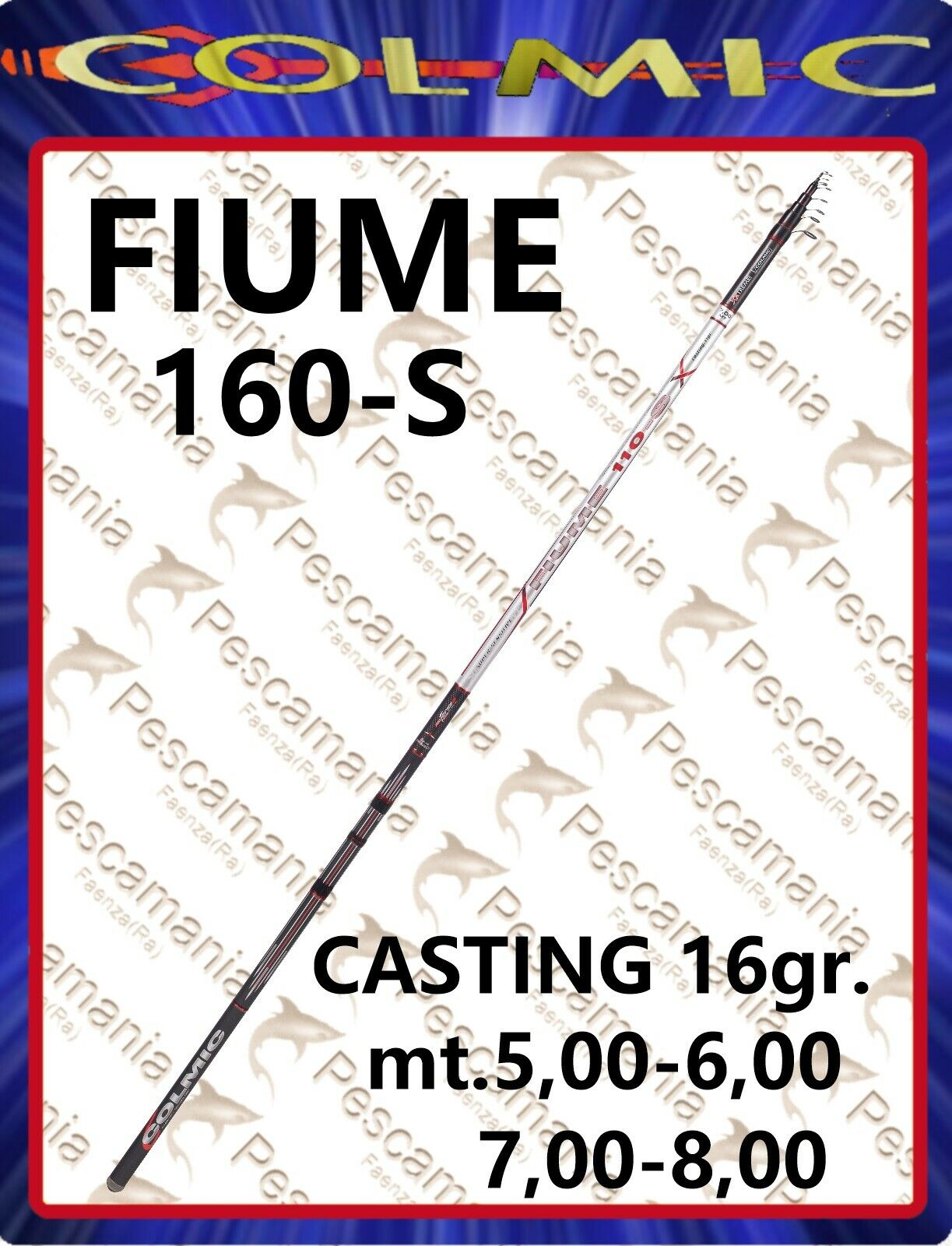 Canna Colmic Fiume XXT 160 bolo passata bolognese mt.5678