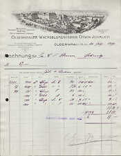 OLBERNHAU Sa., Rechnung 1927, Wachsblumen-Fabrik Otwin Jehmlich