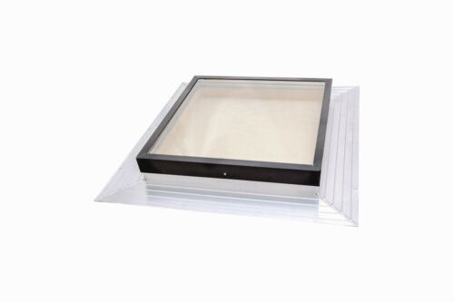 SIG Skylights 22.5 x 22.5 Deck Mounted Self-Flashed Glass Home Skylight Window