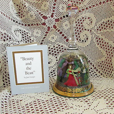 FRANKLIN MINT SNOW GLOBE BELL BEAUTY AND THE BEAST 1992 COLLECTIBLE great gift