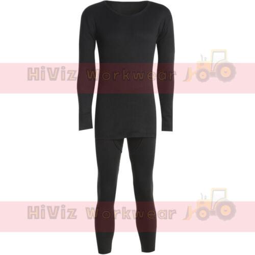 Thermal Full Long Sleeve Top /& Long John Set Suit Base Layer Heat Trap Fabric