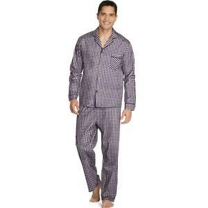 f9f50a534091 Hanes Men s Woven Pajamas LSLLBCWM 5xl Burgundy Gingham