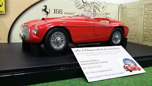 FERRARI-166-MM-Barchetta-cabriolet-rouge-au-1-18-HOT-WHEELS-B6054-MATTEL-voiture