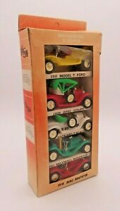 Vintage World Famous Cars Of Yesteryear Hong Kong Plastic Retro Lot of 5 Cars