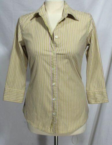 Righe Cotton Camicia J Xs A Giallo 3 Manica viola 100 girocollo 4 q0XU60xF
