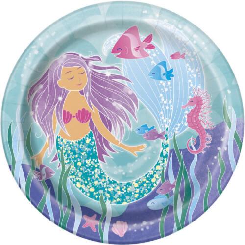 Kindergeburtstag Fete Feier Motto Party glitzernde Meerjungfrau