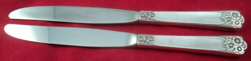 "Wm ROGERS and Son IS /""APRIL/"" Lot of 2 Dinner Knives 9/"""