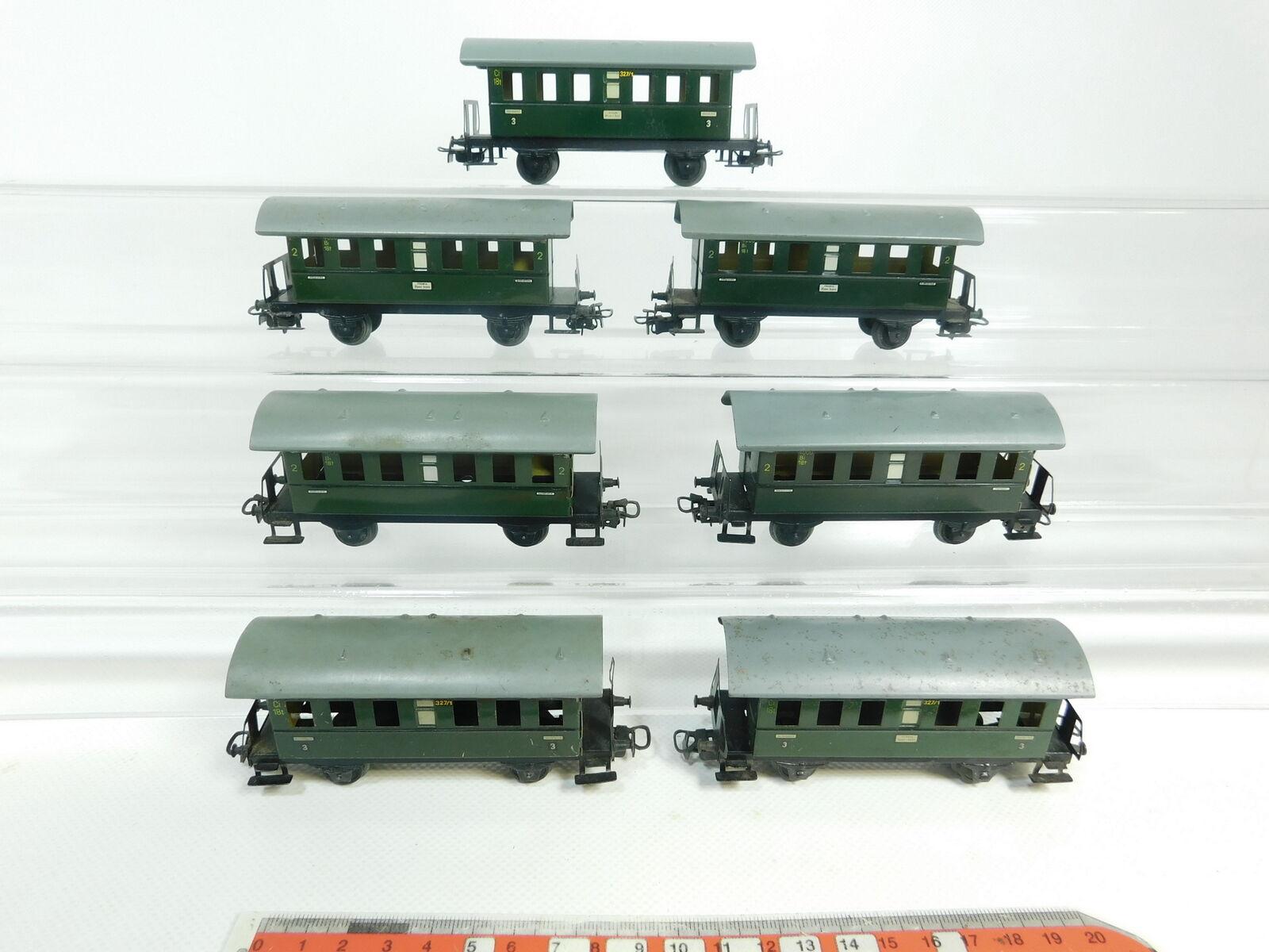 BG691-1  7x Märklin H0 AC Blech-Personenwagen 2. Klasse  4000 + 327 1, 2. Wahl