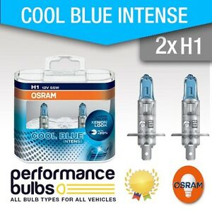 2x Fits Nissan Qashqai J10 Osram Cool Blue Intense High Beam Headlight Bulbs