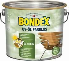 BONDEX UV-Öl farblos, 2,5 l, Wasser-stop Abperleffekt, Witterungsschutz