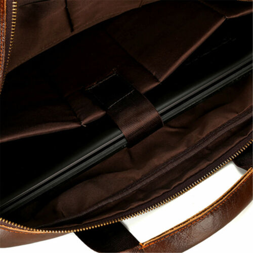 Men/'s Vintage Genuine Leather Handbag Business Briefcase Messenger Shoulder Bag