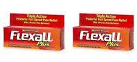 2 Pack - Flexall Plus Maximum Strength Pain Relieving Gel 4oz Each