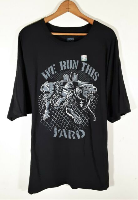 """Official WWE Authentic Undertaker & Roman Reigns """"We Run This Yard""""  T-Shirt 3XL"""