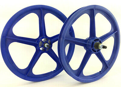 "Skyway tuff 2 II wheels WHITE freewheel Pair Old School BMX 20/"" 3//8 Made USA"