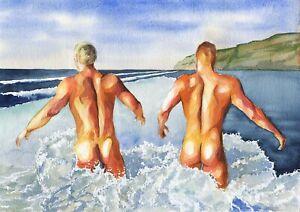Nude Beach Men