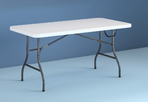 Centerfold Folding Table Cosco 6 Ft Heavy Duty Durable