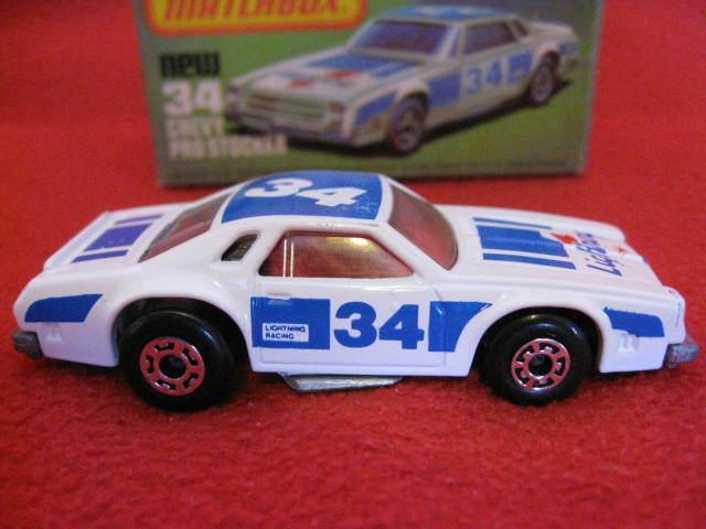 Tu satisfacción es nuestro objetivo Matchbox Lesney Lesney Lesney súperfast No 34 Chevy Pro Stocker. Excelente Estado.  comprar nuevo barato