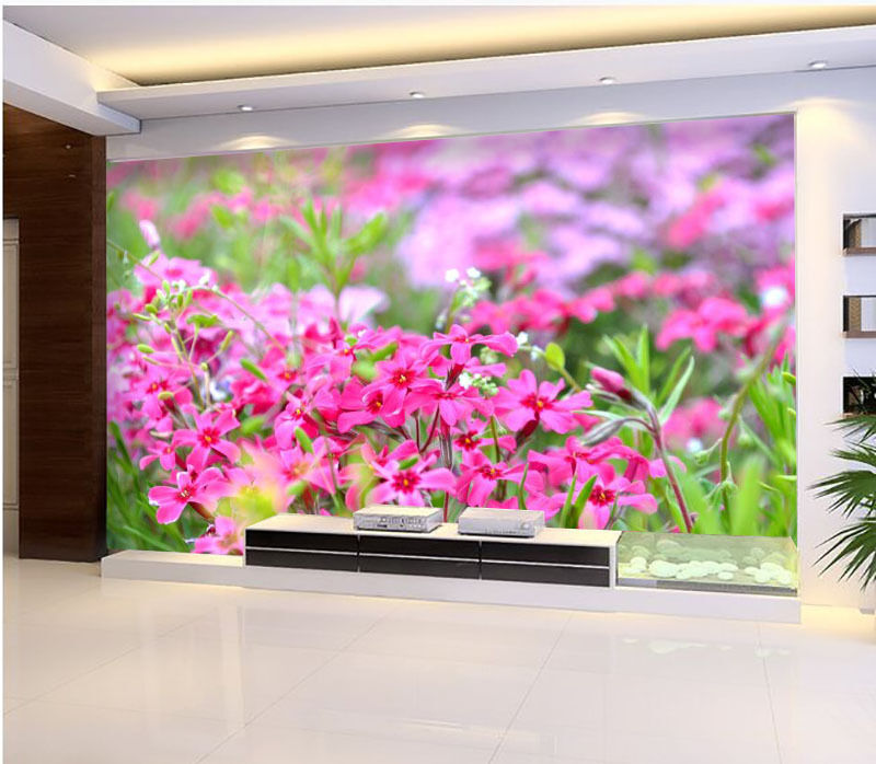 3D Bright ColGoldt Wildflowers Wall Paper Print Decal Wall Deco Indoor wall Mural