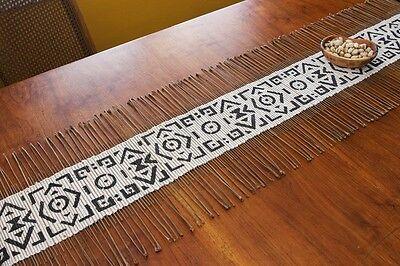 Mali African Fair Trade Swahili Modern Ripple Effect Twig Table Runner