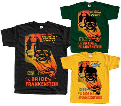 BLACK The Bride of Frankenstein V24 ALL SIZES S-5XL movie poster 1935 T-Shirt