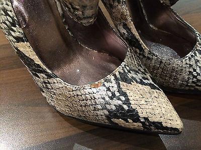 Lipsy Negro Beige Serpiente Tobillo tie Tacones Zapatos Tenis Sandalias Talla 3
