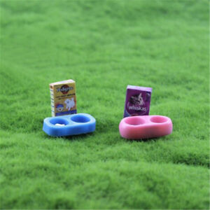 1-12-scale-Doll-House-Miniature-Kitchen-Garden-Pet-Dog-Food-on-Bowl-DD