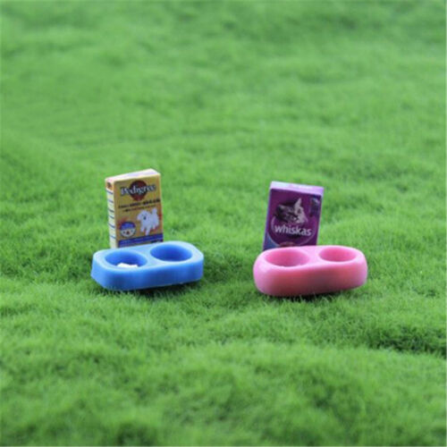 1//12 scale Doll House Miniature Kitchen Garden Pet Dog Food on Bowl TS