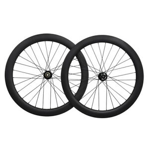 50mm-Sapim-Bicycle-Disc-Wheelset-Clinche-Brake-700C-Carbon-Road-11s-thru-axle