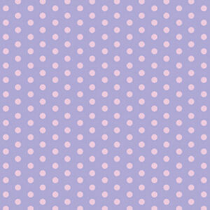 SOFT-COTTON-BABY-CLOTH-DRESS-BEDDING-FABRIC-PINK-POLKA-DOT-DOTTY-SPOT-PURPLE-44-039