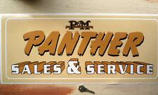 PANTHER Motorcycles SALES & SERVICE  Workshop Garage Sign Sticker Phelon & Moore