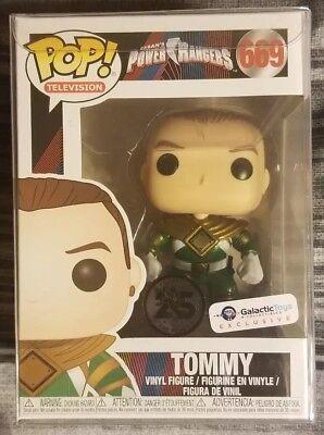 Funko Pop Metallic Unmasked Green Ranger Tommy Power Rangers Vinyl UK Exclusive