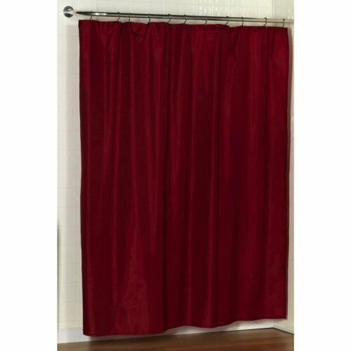 "Carnation Home /""Lauren/"" Dobby Fabric Shower Curtain in Burgundy"